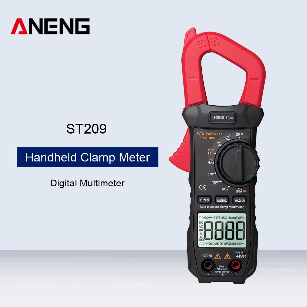ANENG ST209 Digital Multimeter Handheld Clamp Meter AC/DC 6000 Counts Auto Range DC/AC Current Clamp Auto Range Tester Voltmeter