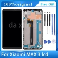 6 9original lcd for xiaomi mi max 3 lcd display touch screen digitizer assembly replacement for mi max3 lcdframe