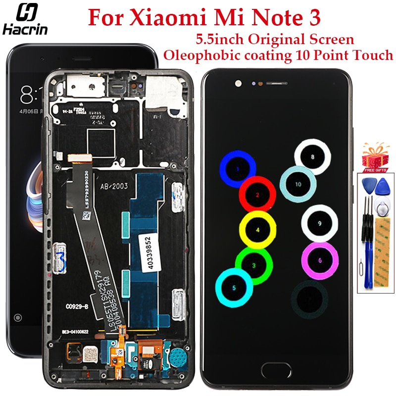 Original Display For Xiaomi Mi Note 3 LCD Display 10 Touch Screen Digitizer Assembly Replacement For Xiaomi Mi Note 3 Screen недорого