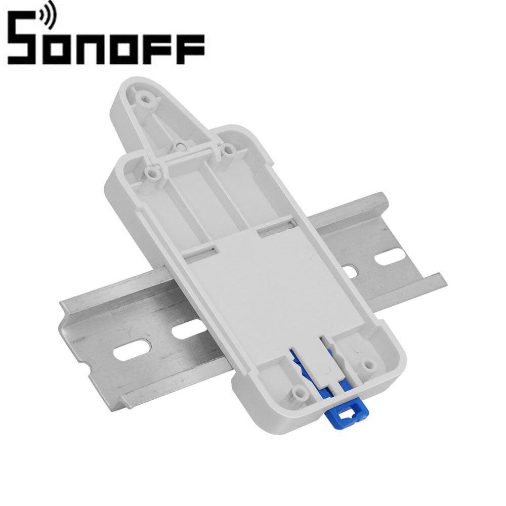 SONOFF dr Din Rail лоток Регулируемый установленный рейку чехол держатель для дистанционного управления Wifi переключатель WithSonoff Basic Sonoff RF Sonoff Pow