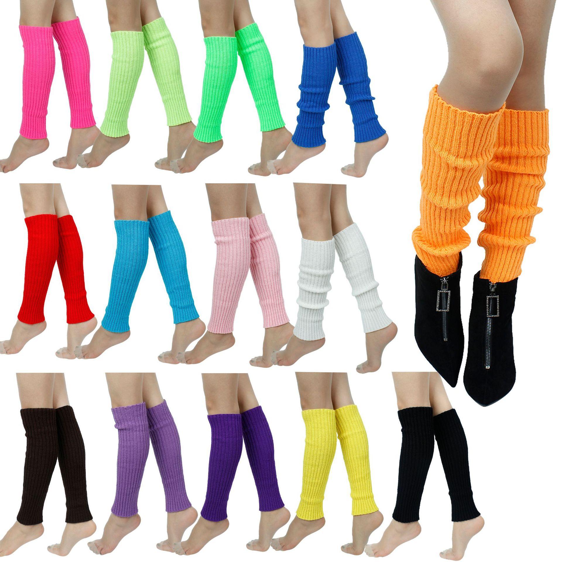 Winter Leg Warmers Women Knee High Knit Boot Cuffs Cotton Solid Color Knee Sock Leg Warmers Been War