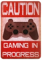 tin sign gaming for decor 12 x 8 inches suitable for barcafehome kitchenrestaurantdormgarageman cavelounge decor