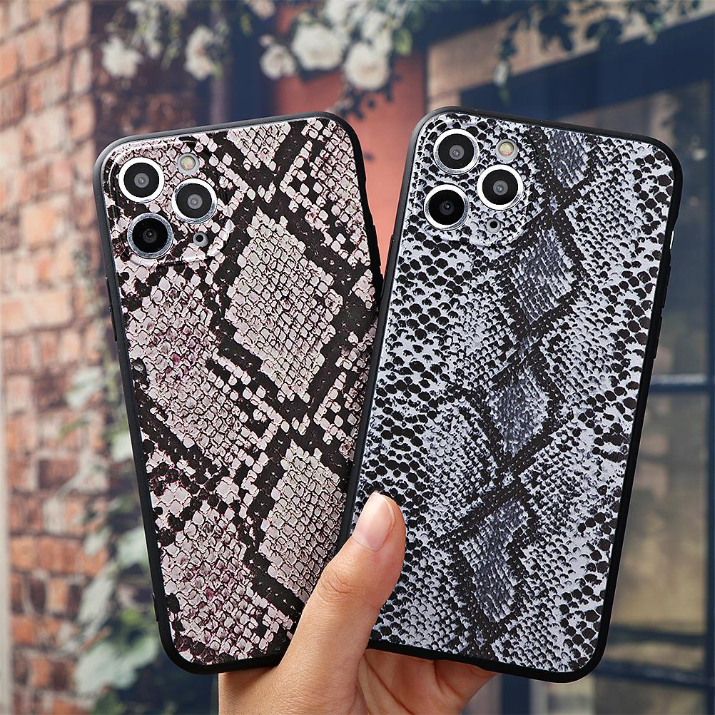 Retro piel de serpiente 3D relieve caso para iPhone 11 pro XS Max suave TPU funda para iPhone SE nuevo 2020 X XR XS 6 6 S 6 6s 7 7 Plus 5 5S caso