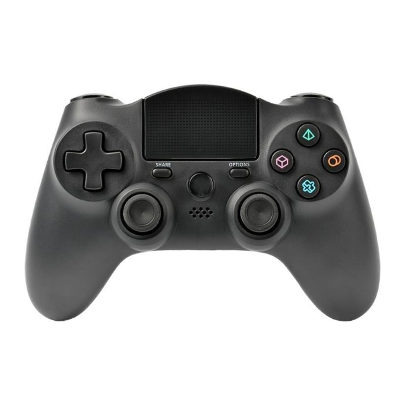 For Ps4 Wireless Bluetooth Game Handle 400mah Built-in Battery Touching Screen Rocker Cap Button Dou