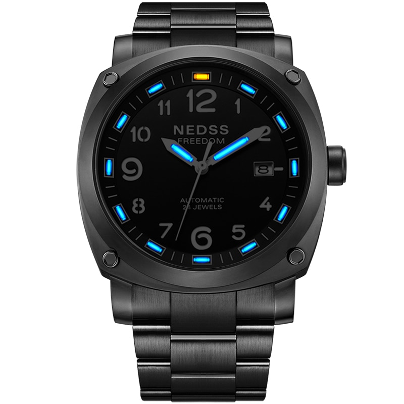 2021 Luxury TACTO Mens Watches Mechanical Watch T25 Tritium PAM Sports Watch Stainless Steel Automatic Watch 50M Waterproof enlarge
