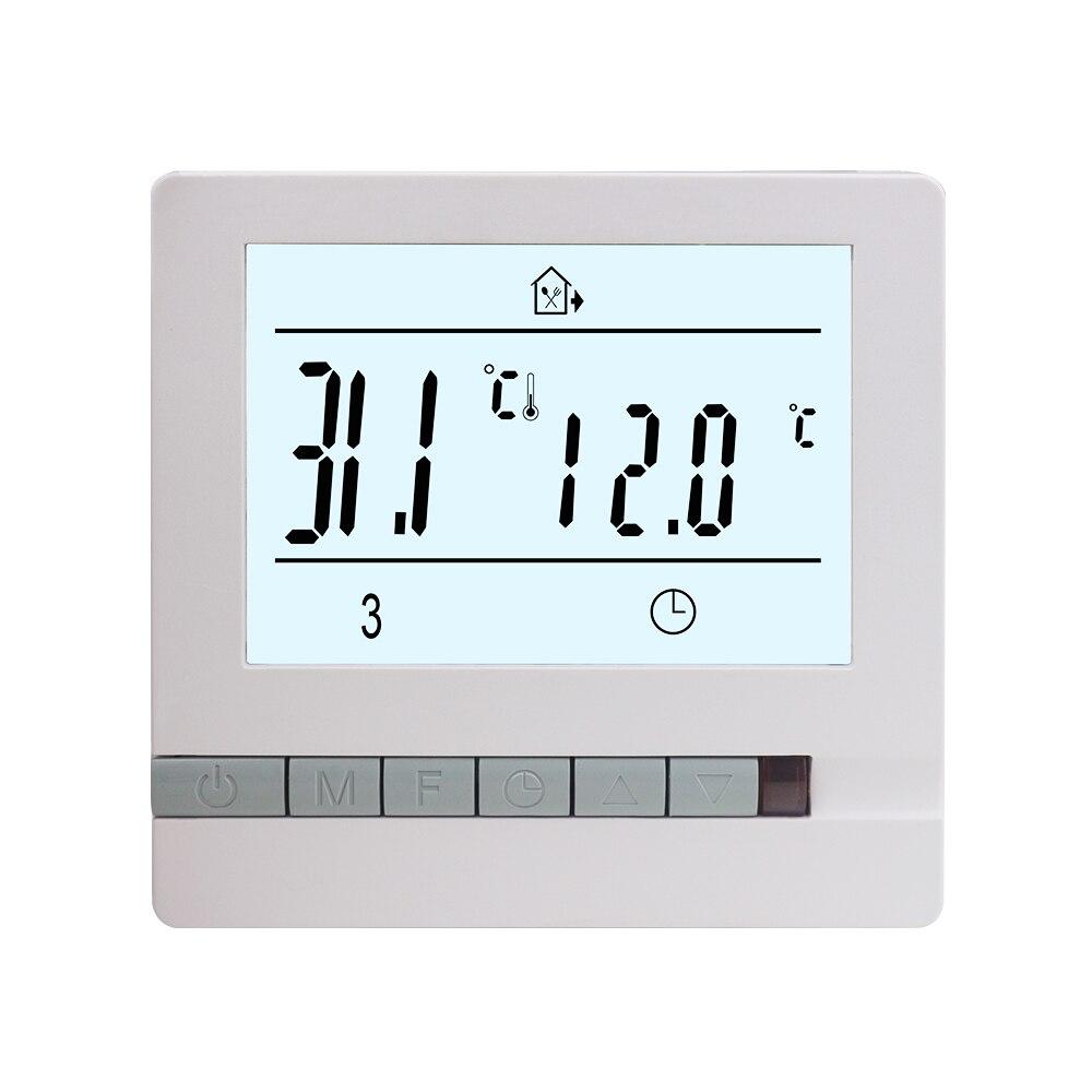 جديد 230 فولت 16A ترموستات لتدفئة الأرضية غرفة دافئة متحكم في درجة الحرارة منظم أسبوعي للبرمجة فترة التحكم/الوضع اليدوي