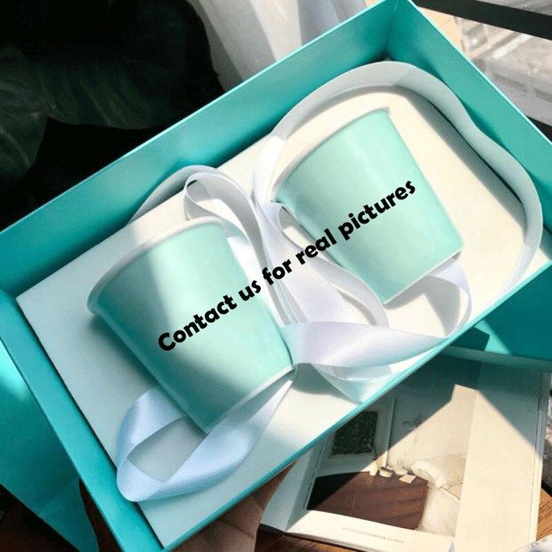 2 Fine Bone China Cups With Gift Box & Bag Porcelain Green Cup Mug For Coffee Tea Milk Home Decor Luxury Wedding Birthday Gifts