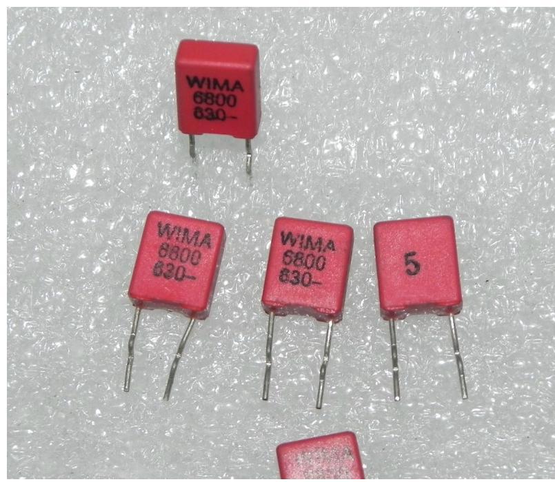 Capacitor Eletrônico Importado Original 6800pf Filme Febrile Eletrolítico 630v0.0068uf