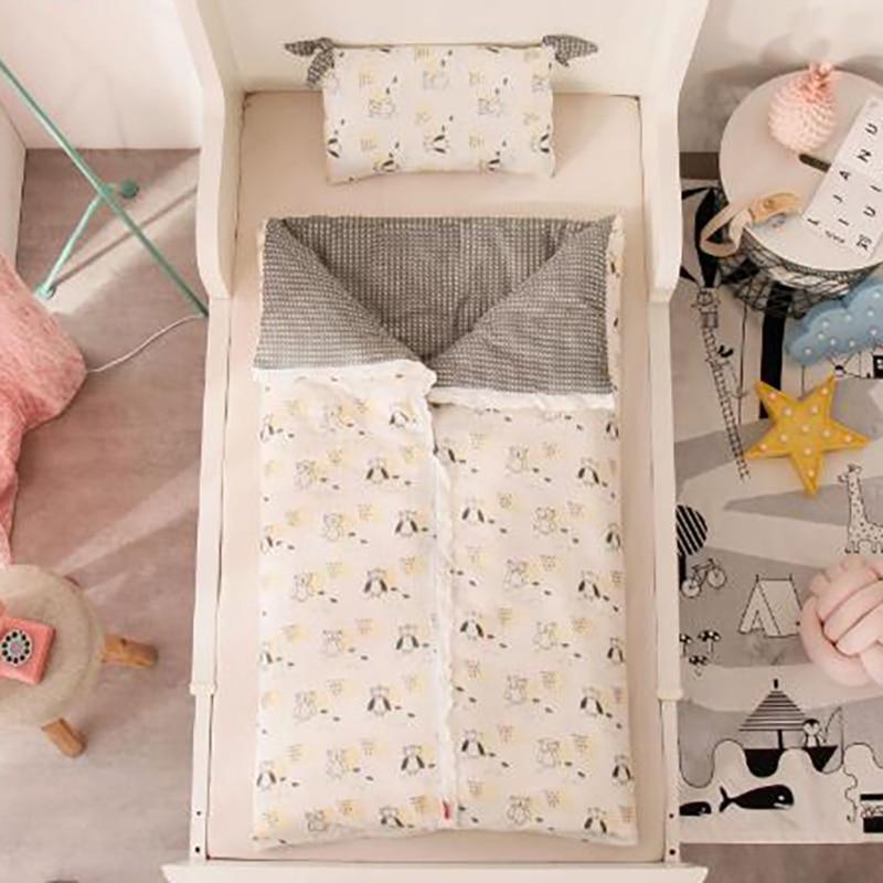 Funda de edredón para bebé, funda de edredón de algodón para niños, fundas de saco de dormir para niños, impresión cómoda y extraíble BXX015