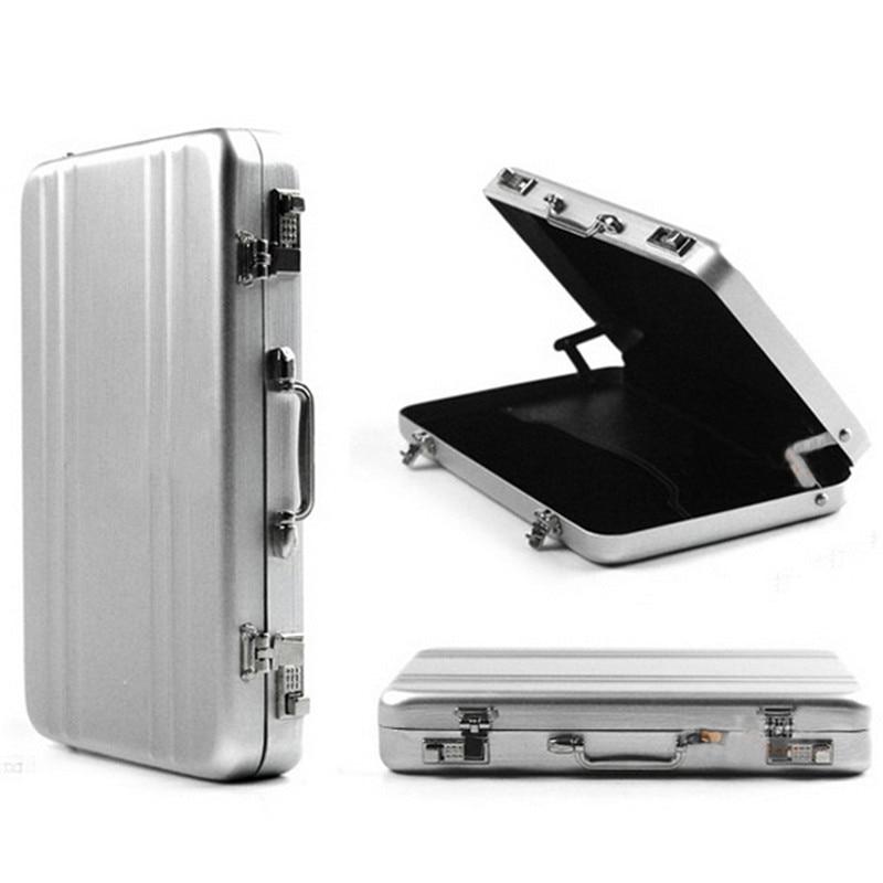 New Business ID Credit Card Holder Travel Suitcase Organizer Wallet Pocket Case Aluminum Metal Box