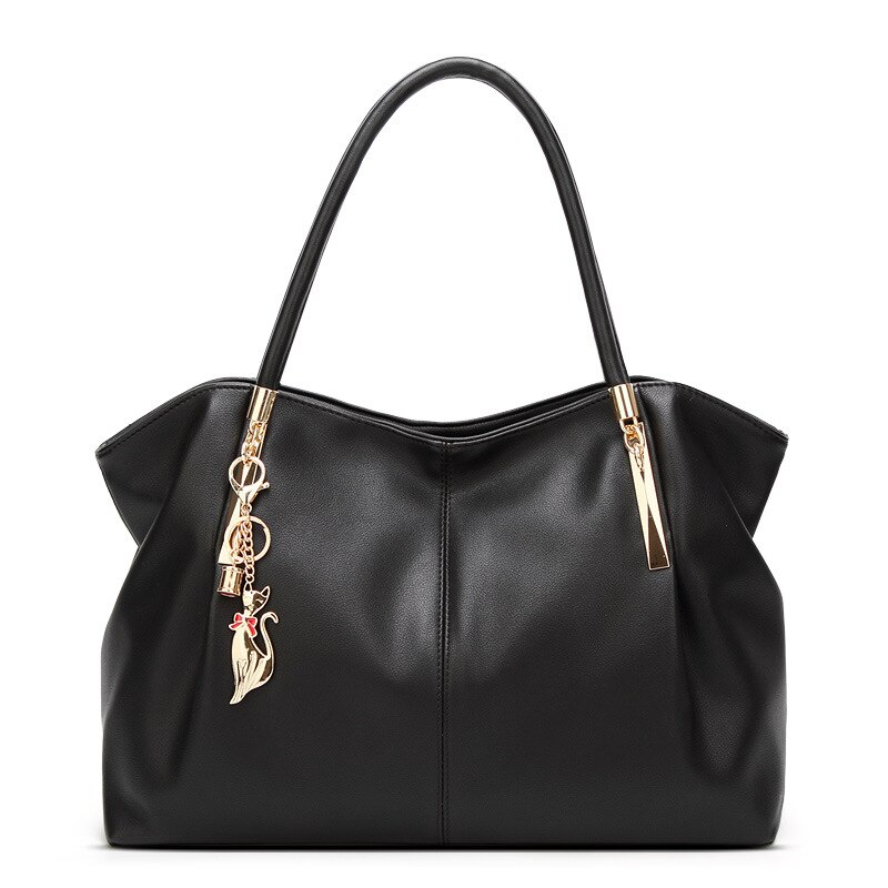 new women handbag genuine leather shoulder bag 100% cowhide lady casual shopping bags vintage leather large capacity tote bolsos 2021 New Luxury PU Leather Women Shoulder Bag Casual Shopping Handbag Large Capacity Female Backpack Tote Bags