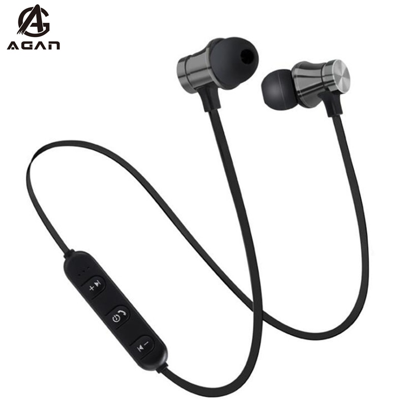 Auriculares Bluetooth de deporte inalámbrico magnético para Samsung Galaxy Note 10 9 S20 S10 S9 S8 Plus LG HTC Google con micrófono