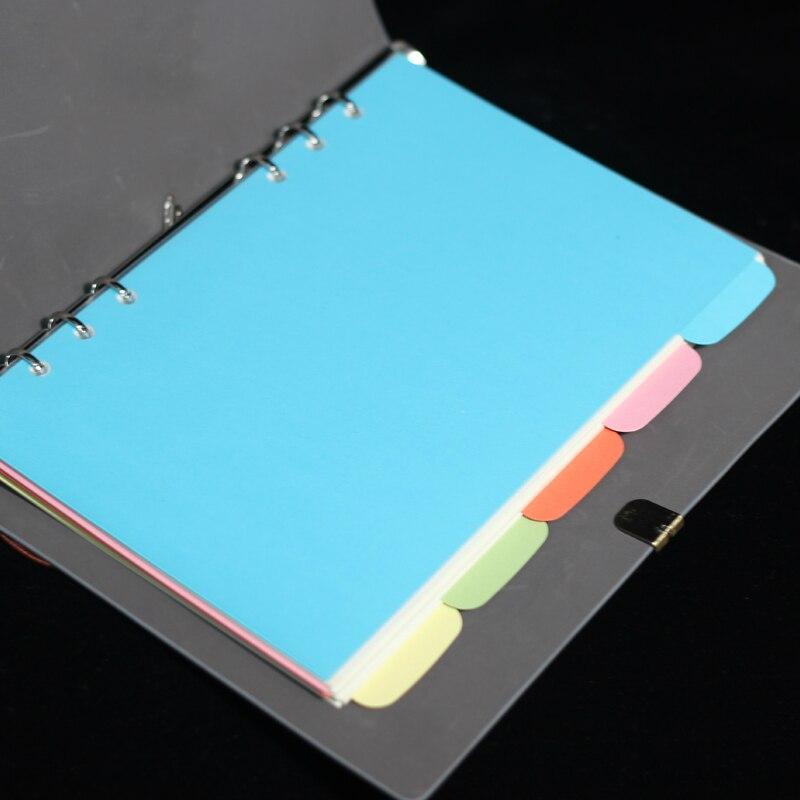 A5 Bloc de notas de relleno en espiral página de índice de papel de hoja suelta clasificación de libros de mano recarga