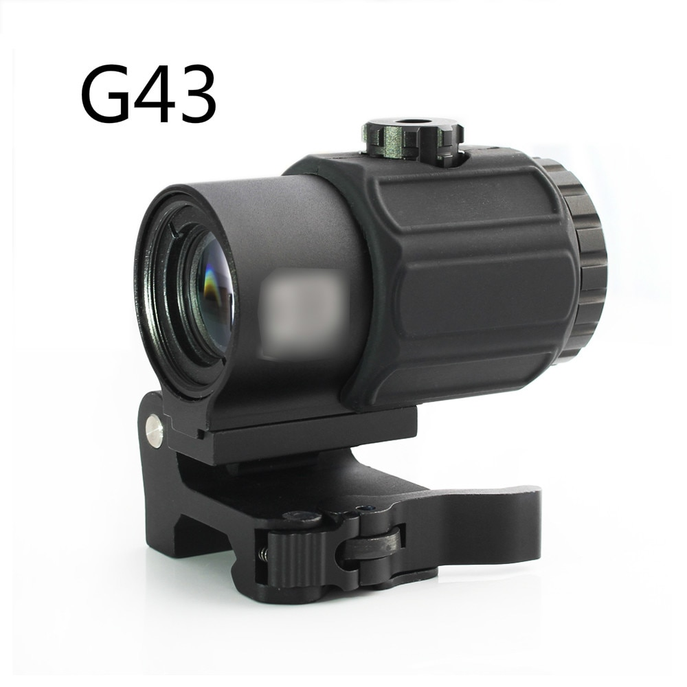 3x magnifier lens for side flip mount fit red dot sight scope picatinny weaver rial mount base de m1243 Magorui Red Dot Laser G43 3x Magnifier Scope Sight with Switch to Side STS QD Mount Fit for 20mm rail Rifle Gun Tactical Hunting