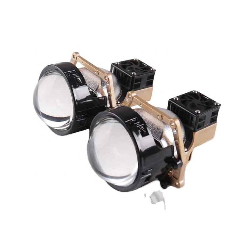 عالية الجودة 3 بوصة ثنائية LED & جهاز عرض ليزر عدسة سيارة المصباح مصباح اكسسوارات السيارات التحديثية