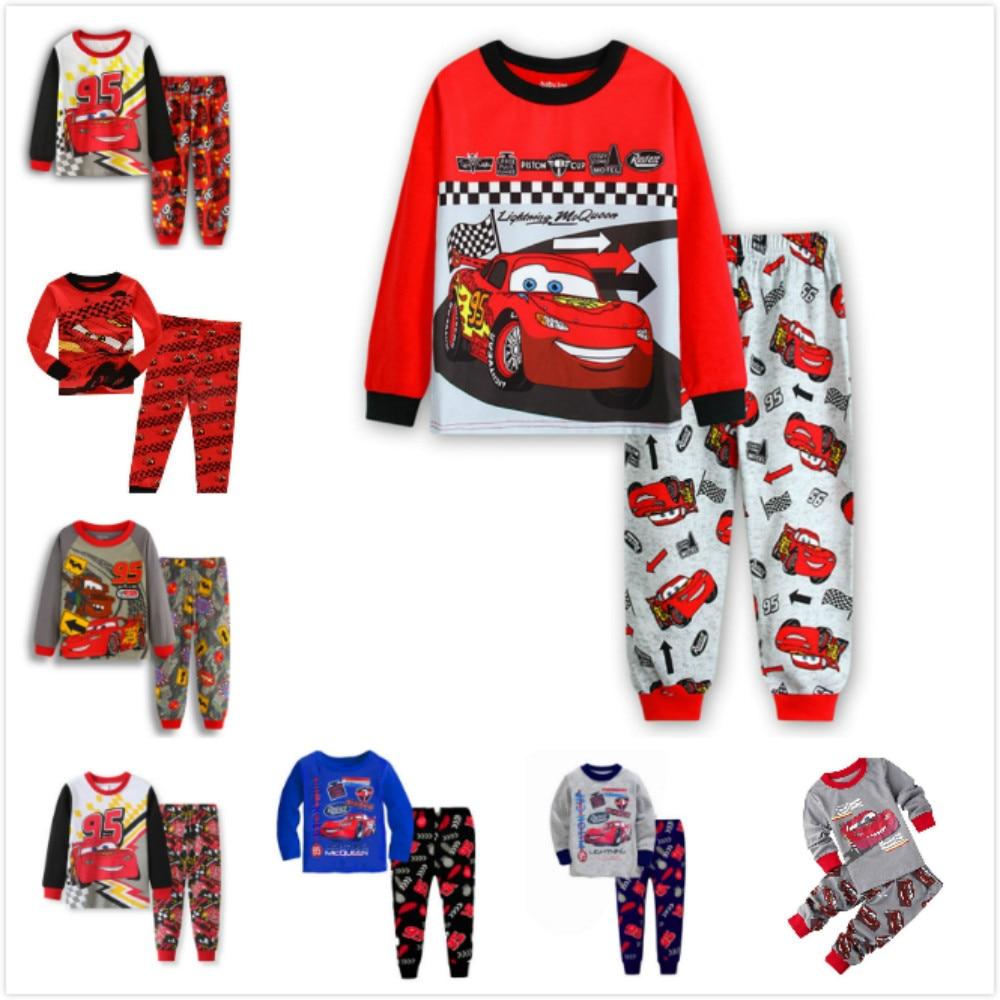 Juegos de Pijamas para niños de dibujos animados de Pixar Cars Lightning McQueen, ropa de dormir para niños, Pijamas para niñas, Pijamas de algodón, ropa de dormir