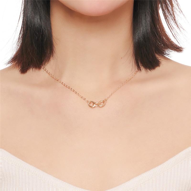 Personalidad de la moda COLLAR COLGANTE de oro para mujer vestido de niña accesorios femeninos 2019 Nueva joyería de aniversario regalos venta al por mayor