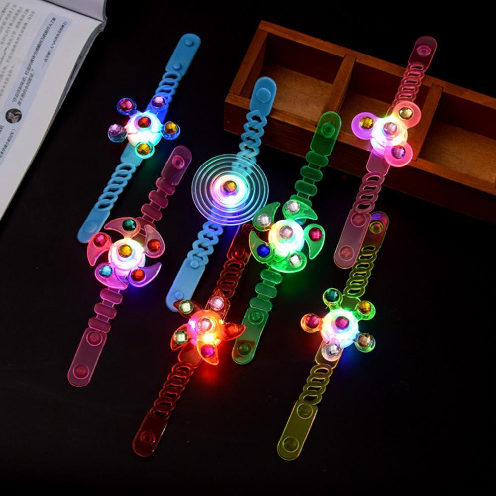 Kids Watches Creative Luminous Spinning Top Spiral Twister Watch Bracelet Children Toy Birthday Part