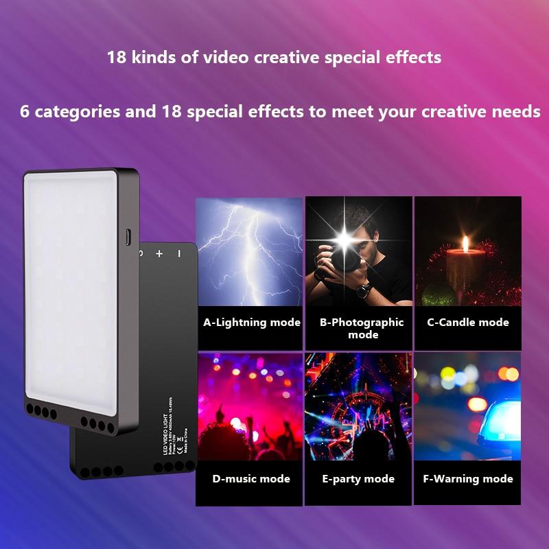 Портативный RGB портативный заливка свет аккумулятор видео лампа красочный фон светодиод панель освещение для фотографии студия фото 1 шт.