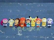 10-12cm TAKARA TOMY pokemon Eevee pikachu Ash Ketchum Meowth Animal peluche jouets pour enfants
