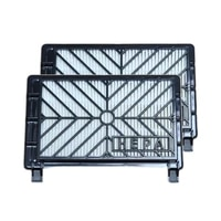2pcs for philips fc8428 fc8429 fc8436 fc8437 fc8438 fc8606 fc8607 fc8610 fc8611 vacuum cleaner accessories parts hepa filter