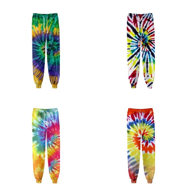 Pantalones de moda Cool Hip Hop con tinte de corbata coloridos 3d para corredores, pantalones harén para hombres y mujeres, pantalones largos sueltos, pantalones deportivos para hombre, pantalones de ejercicio 3D, pantalón de chándal