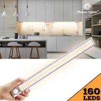 Светодиодный ночник с пассивным ИК датчиком движения, приглушаемый светильник для шкафа, с регулировкой времени, для кухни, гардероба, лест...