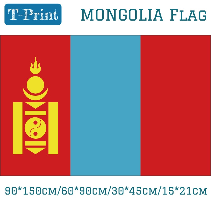 Bandera Nacional de Mongolia de 15 Uds., 15*21cm/90*150cm/60*90cm/40*60cm, Bandera de coche para el Día Nacional Copa del Mundo