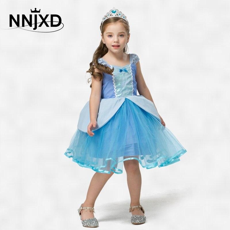 2 3 4 5 6y menina princesa vestido fantasiar-se bebê cosplay traje para festa de aniversário roupas de halloween