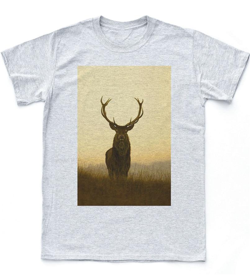 Stag Deer Morning camiseta Indie Retro naturaleza Hipster Vintage verano camiseta última moda
