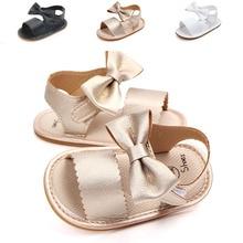 Brand New Cute Newborn Infant Baby Girls Bowknot Princess Shoes Toddler Summer Sandals PU Non-slip R