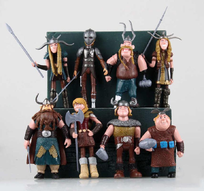 8 unids/set 10-13cm cómo entrenar a tu dragón 3 figuras de acción   Pvc figuras de acción juguetes clásicos regalo de los niños para los niños modelo regalo