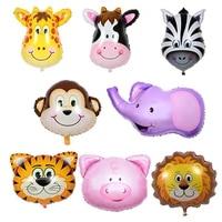 party toy balloon large cartoon animal head tiger balloon children birthday toy party decoration balloon wholesale