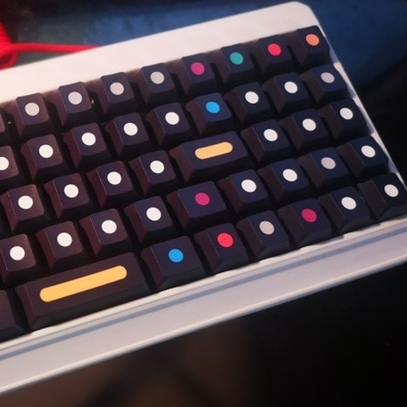 110 مفاتيح/مجموعة النقاط قبعات مفتاح ل MX التبديل لوحة المفاتيح الميكانيكية PBT صبغ غطاء مفتاح Subbed الكرز الشخصي
