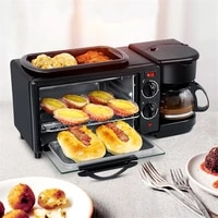 ttlife 3 in 1 electric breakfast machine multifunction coffee maker frying pan mini oven household bread pizza oven frying pan