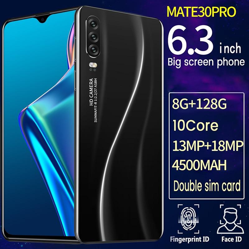 Mate30 pro 6.3-inch android smartphone snapdragon 855 10 núcleo 8gb ram 128gb rom nfc led 4 câmera 4500mah 2020 versão global 5g