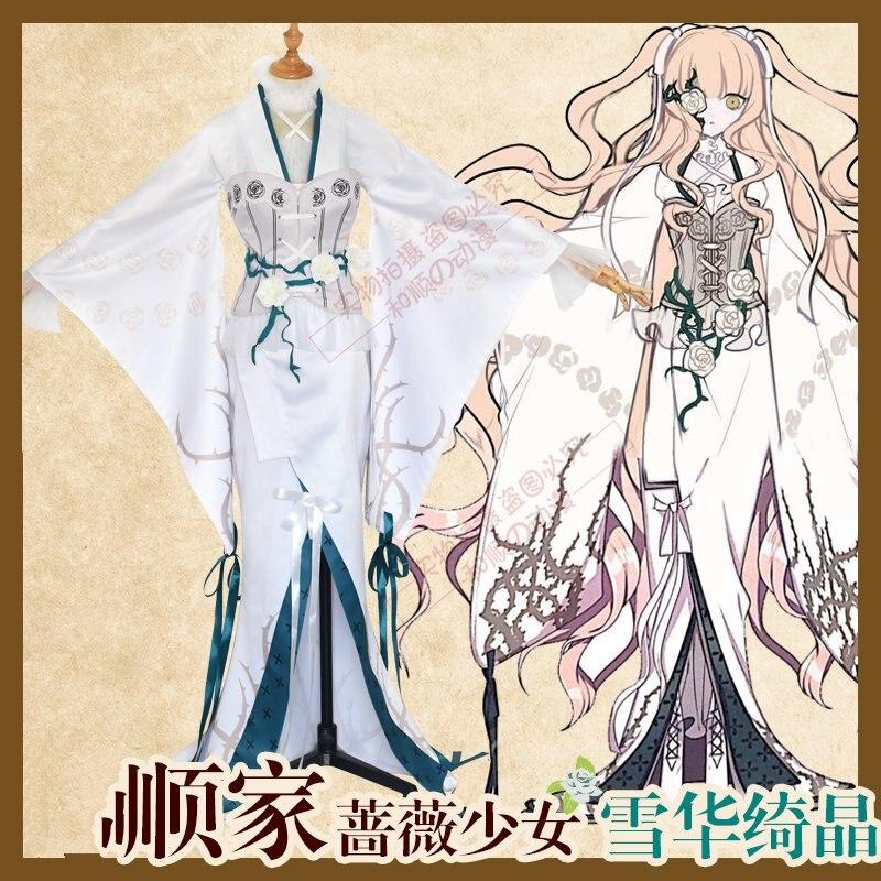 Anime Rozen Maiden Kirakishou 15 ° aniversario Taisho Kimono Rose vestido Halloween Cosplay disfraces para mujeres