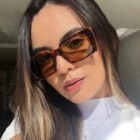 hot sale fashion rectangle women sunglasses trendy shades for ladies square sun glasses female uv400 2021 new style