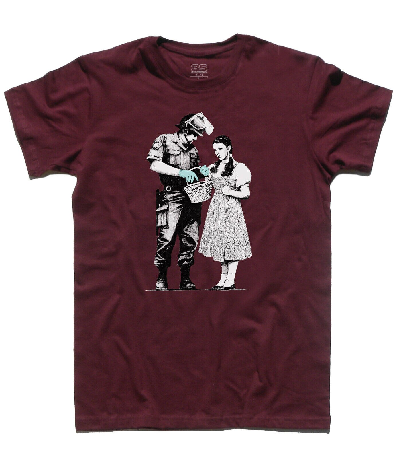 Camiseta banksy parar e procurar dorothy mago di oz poliziotto polícia rua