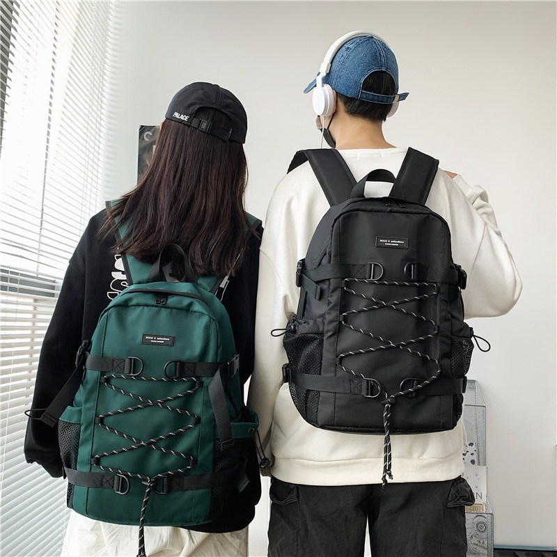 2021 New Large Capacity Men's backpack Trend Travel Backpacks for women Fashion Couple School backpack Outdoor Bucket mochila