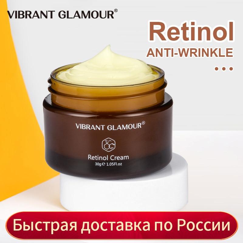 VIBRANT GLAMOUR Retinol Face Cream Firming Lifting Anti-Aging Remove Wrinkle Whitening Brightening Moisturizing Facial Skin Care недорого