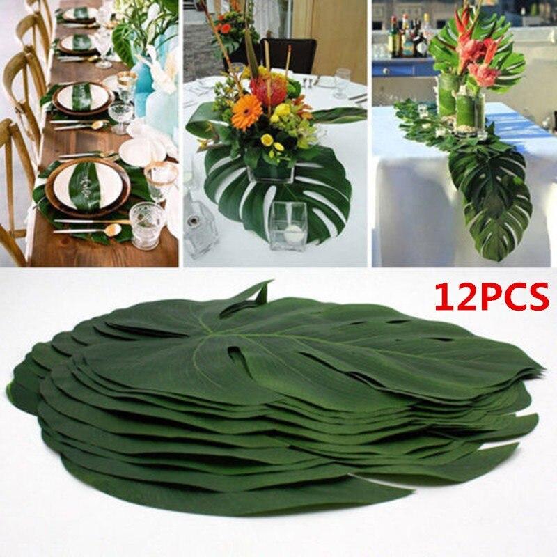 Verde plantas de la selva Artificial de hojas de palma tropical estilo de la isla de planta de simulación de la boda de mesa de fiesta Decoración de casa