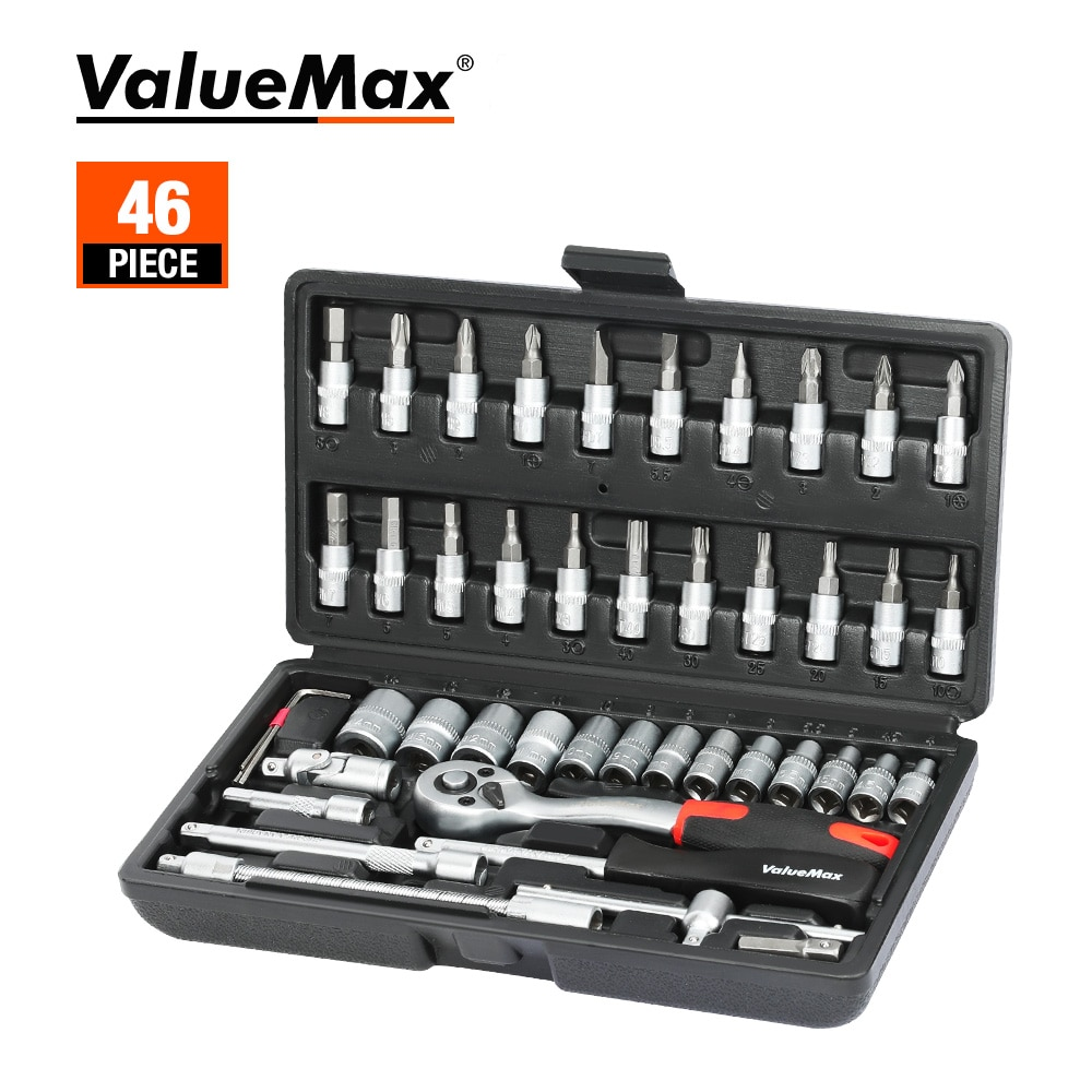 hot pro skit pk 2028 household repair hand tool set electrician pliers driver bit set wrench tool kit tool box ValueMax Hand Tool Sets Car Repair Tool Kit Set Mechanical Tools Box for Home 1/4-inch Socket Wrench Set Ratchet Screwdriver Kit