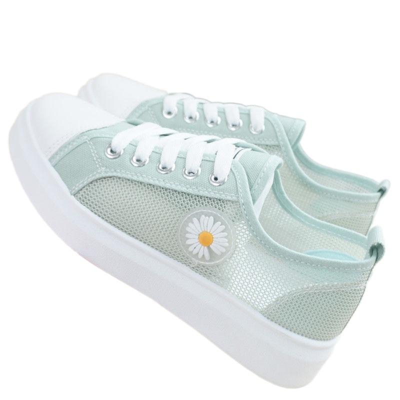 Canvas Shoes Women's Summer New Mesh Shoes Junior High School Student Women's Sports Shoes Korean St