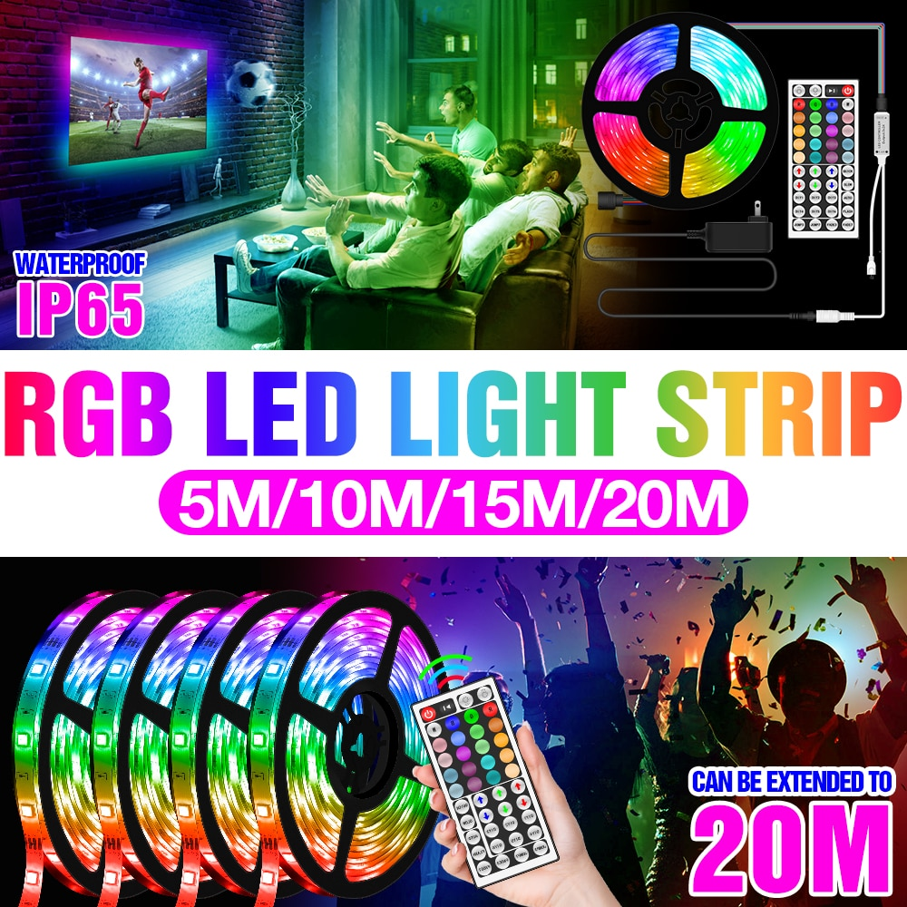 12v led rgb luzes de neon tira 5050 impermeavel fita flexivel controle remoto lampada