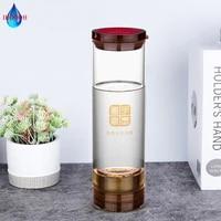 portable hydrogen generator bottle anti aging alkaline pem membrane electrolysis healthy drinking pure h2 water 600ml glass cup