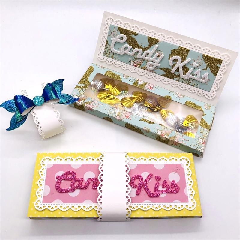 KSCRAFT Chocalate Bar Candy Box Metal troqueles plantillas para DIY Scrapbooking/álbum de fotos grabado decorativo Tarjeta de papel para manualidades