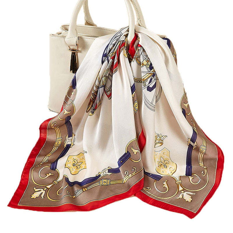small size Bandana Square Scarf for Women Fashion Summer Thin Silk-like Hair Handkerchief Bag Scarf 27 color
