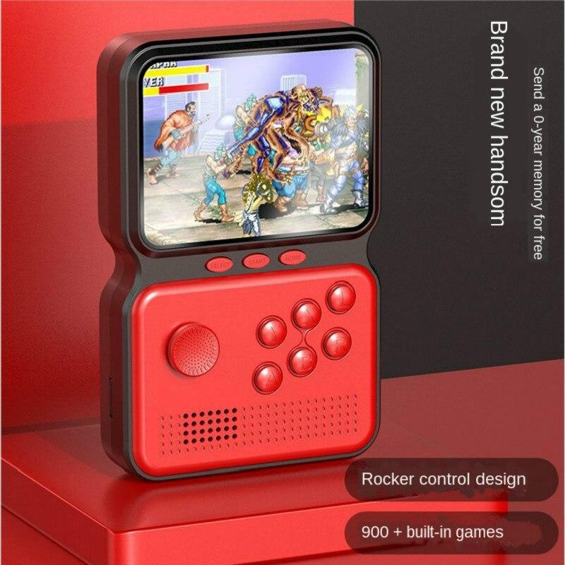 "Consola de juegos portátil, Arcade nostálgico, pequeña tarjeta portátil, King of Fighters, Tetris 3,0 "", consola de juegos Retro, videojuegos de 8 bits"