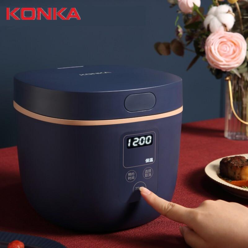Konka موقد صغير لطهي الأرز 2L الطبخ وعاء الحساء 24 ساعة الحجز الذكية عالية الجودة غير عصا بطانة التحكم الذكي في درجة الحرارة